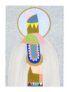 Totem Orb Art Print by Lisa Lapointe - shop our art works online from our online art gallery. Collages, Art Prints Online, Lisa, Love Illustration, Illustrations, Limited Edition Prints, Bunt, Design Art, Creations
