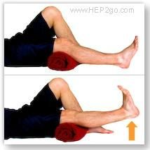 Short arcs: Knee strengthening exercise. Great link for knee pain relief and multiple safe exercises.