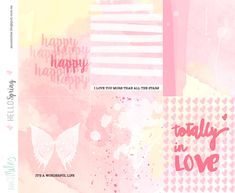 Free Hello Spring Watercolor Journal Cards from Ann's Miles