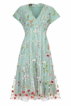 Valeria Meadow Flower Dress   Nancy Mac
