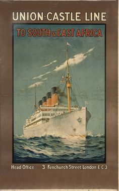 Union Castle LIne East Africa Poster