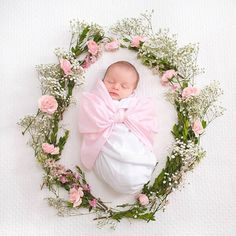 If babies were flowers, I'd pick you | Bow Swaddle | The Beaufort Bonnet Company