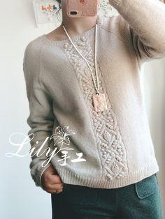 1701-【Lily*手工】 暮云 --云绒三柒休闲套衫 - Lily - Lily的手工编织天地