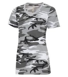 V-Neck Camo Ladies T-shirt with personalized embroidery added (optional) by KBcreativeFinds on Etsy Custom T Shirt Printing, Custom Embroidery, Custom Logos, Camo, V Neck, T Shirts For Women, Trending Outfits, Stuff To Buy, Vancouver