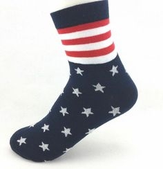 American Flag Crew Trouser Socks NEW 9-11 Patriotic USA Pride #USASocks #Casual