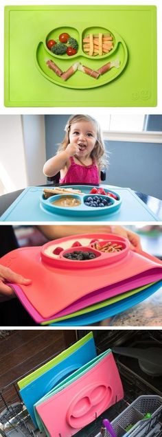 silicon place mat - dishwasher safe and stays in place