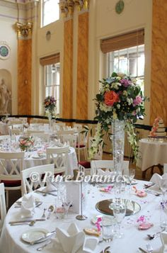peach-and-pink-tall-wedding-centrepices