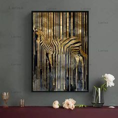 Modern Style Abstract Gold Foil Horse Zebra Animals Canvas Painting Poster And Prints Wall Pictures For Living Room Decor Office Canvas Art, Canvas Wall Art, Poster Pictures, Wall Pictures, Gold Wall Art, Abstract Waves, Living Room Pictures, Picture Wall, Prints
