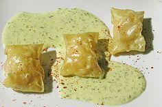 Flusskrebs - Wan Tans auf Sauerampfer - Creme, ein raffiniertes Rezept aus der Kategorie Gemüse. Bewertungen: 3. Durchschnitt: Ø 3,8.