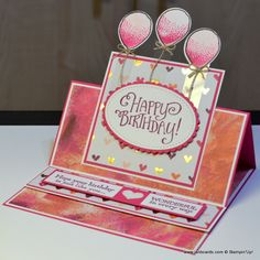 To create this card I used the Stampin' Up! Painted with Love Designer Series Paper, and three stamp sets to create this card: Balloon Celebration, Better Together, and Pretty Kitty.