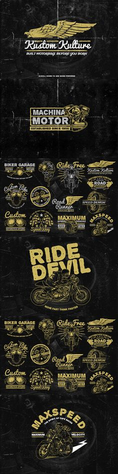 The Retro Bike + 20 Bonus by TSV Creative on Creative Market