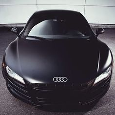 Matte black Audi R8 ..i think this is me.need some suitable new shoes for that girls car!!