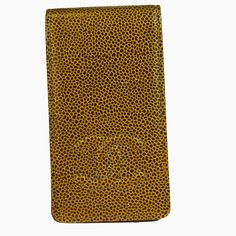 f6a15a9b851a Auth CHANEL CC Quilted Smart Phone Case Leather Bronze Italy Accessory  02B1320 #afflink
