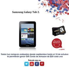 ¿Que te parece iniciar octubre con una fantástica tablet? Samsung Galaxy Tab 2.  http://amzn.com/B007P4VOWC