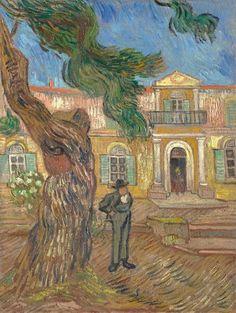 Van Gogh, vista del manicomio, ottobre 1889. Olio su tela, 63.4 x 49 cm. Musée D'orsay, Parigi.