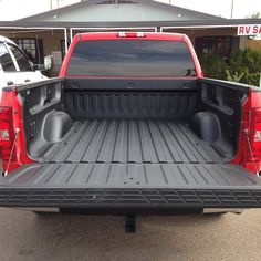 Truck bed sprayed with #1 spray-in liner Rhino Linings #rhinolinings