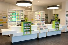 look at the lights Showroom Design, Interior Design, Small Store Design, Pharmacy Store, Medical Office Design, Cosmetic Shop, Shelf Design, Layout, Display Shelves