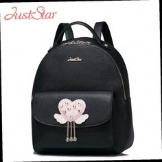 54.76$  Watch now - http://alikrf.worldwells.pw/go.php?t=32775601839 - JUST STAR Women Backpack Ladies PU Leather Fashion Daily Travel Double Shoulder Bag Girl's Tassel Sweet School Bags JZ4201