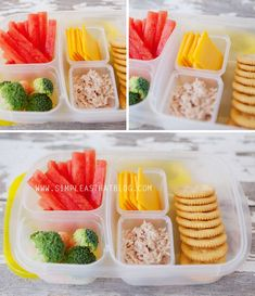 simple as that: Healthy School Lunches in the New Year...but could easily make these for myself to take to work! || packed in #easylunchboxes containers