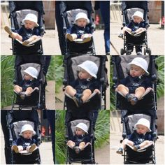 Prince George being taken for walk around Hyde Park pond by his nanny Maria Teresa Turrion Borrallo - 11/06/14☀️ #Padgram