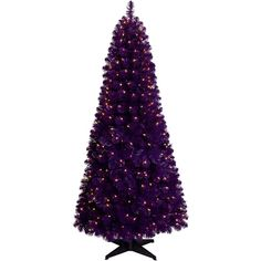 Treetopia Basics Purple Tree ($78) ❤ liked on Polyvore featuring home, home decor, holiday decorations, christmas holiday decorations, christmas holiday decor, purple home decor, purple home accessories and christmas home decor