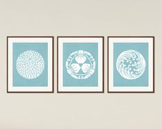 Japanese Designs - Minimalist Printable Poster Set, Asian Decor, Asian Wall Art, Modern Home Decor, Limpet Shell, Instant Download