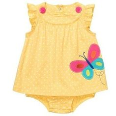 Flutter Sleeve Sunsuit | Baby Girl One Pieces