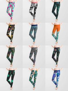 Leggings - is home to hundreds of thousands of artists from around the globe, uploading and selling their original works as premium consumer goods from Art Prints to Throw Blankets. They create, we produce and fulfill, and every purchase pays an artist. Pretty Outfits, Cool Outfits, Fashion Outfits, The Sims, Sims 4, Floral Leggings, Leggings Are Not Pants, Cute Pants, Throw Blankets