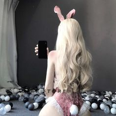 Cute Pink Bunny Girl Cosplay Lingerie 3
