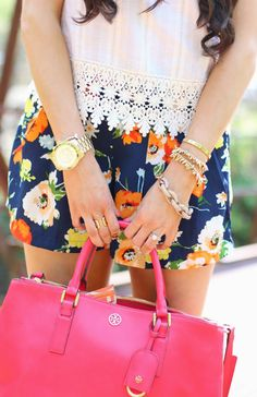 Crop top with high waisted shorts