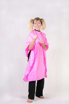 Hair salon shop stylist nylon cutting capes cape hot pink personalized