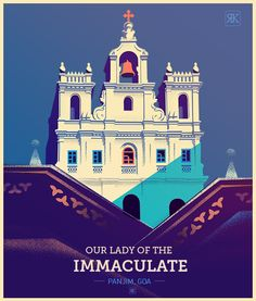 Dribbble immaculate panjim detail #02 - Our lady of the Immaculate - Goa by ranganath krishnamani