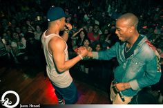 B.o.B & T.I. on stage together!