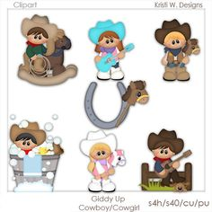 DIGITAL SCRAPBOOKING CLIPART  Giddy Up by BoxerScraps on Etsy