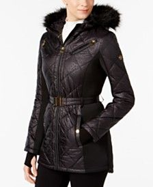michael kors faux fur puffer coat - Shop for and Buy michael kors faux fur puffer coat Online - Macy's