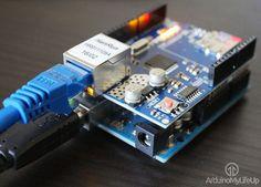 Setup a simple web server with the Arduino.
