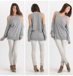 diy cut out sweater