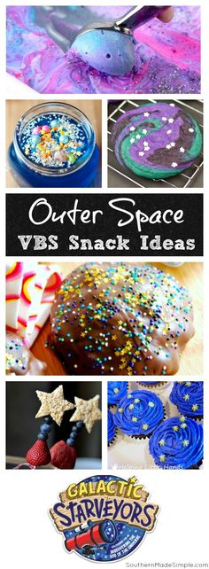 Galactic Starveyors VBS Snack Ideas | Outer space themed snack ideas - they're truly out of this world!
