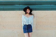 Gabbi Garcia, Debut Ideas, Choose Life, Korean Outfits, Denim Skirt, Ms, Cute Outfits, Ootd, Skin Care