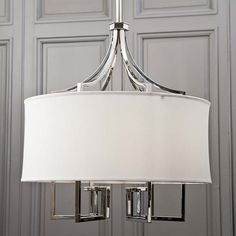 Le Chic Nickel Chandelier- Regina Andrew, too small but love it