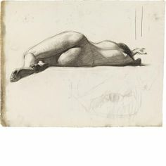 Whitney Museum Shop - Edward Hopper Reclining Female Nude, Rear View print
