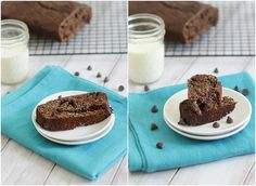 Double chocolate banana bread { high protein } via Running to the Kitchen