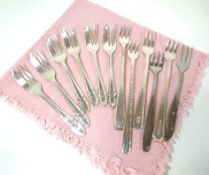 Vintage Silverplate Fish Forks Stainless Fish Forks by ReneesRetro