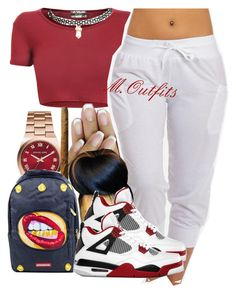 """N*gga finna get loose"" by renipooh ❤ liked on Polyvore featuring Michael Kors, Identity and Wet Seal"