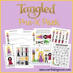 Download a free Tangled Pre-K Printable Pack. @Sandra Vanderbeck Heyrich & Diana Hellard-Jessup