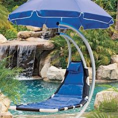 You'll feel like you're floating in air in this breezy hammock....Its like a baby rocker, but for grown ups! I must have it!.