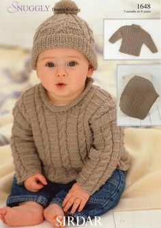 Sirdar--Sweaters, Blanket and Hat (3 months - 6 years)
