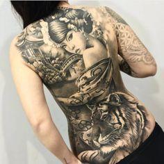 Tattoo Asiatische Frau und Tiger