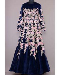 Samyakk Gowns GW565 Indian Gowns Dresses, Pakistani Bridal Dresses, Indian Fashion Dresses, Abaya Fashion, Long Dresses, Fashion Wear, Simple Dresses, Dress Fashion, Fashion Outfits