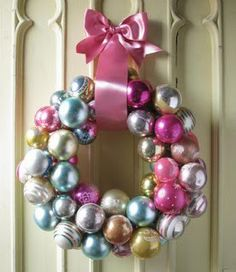 Corona de Navidad con chirimbolos o adornos : VCTRY's BLOG